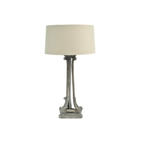 Libra Company Roxborough 337646 Mindi Tri Leg Table Lamp Wooden Lamp Base and Cream Lamp Shade