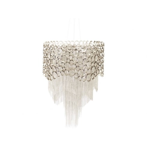 Libra Company Venus Nickel Round 367216 Chandelier Ceiling Light