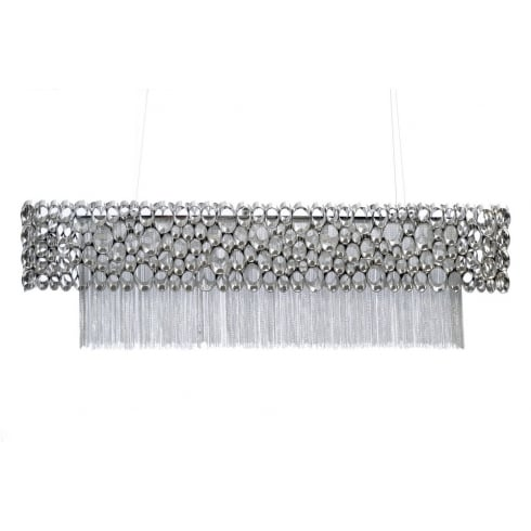 Libra Company Venus Nickel Rectangular 337736 Chandelier Ceiling Light