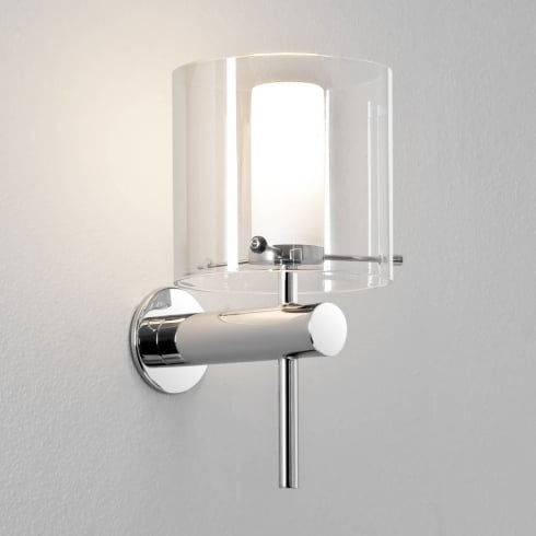 Astro Arezzo Bathroom Wall Light Polished Chrome and Clear Glass