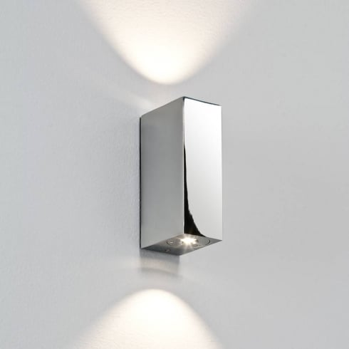 Astro Lighting Bloc 0829 Polished Chrome LED Bathroom Up and Down Surface Wall Light IP44