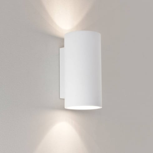 Astro Lighting Bologna 240 7002 White Modern Plaster Up and Down Surface Wall Light IP20