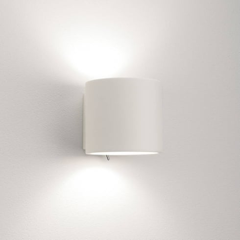 Astro Brenta Interior Plaster Up and Down Surface Wall Light Switched