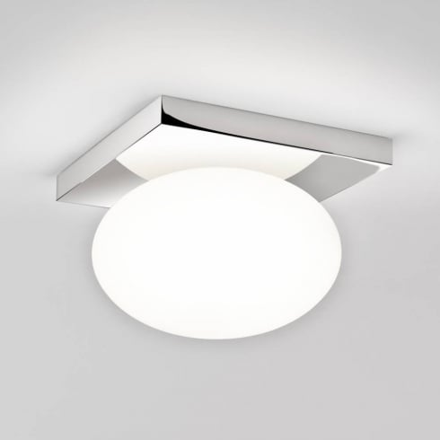 Astro Lighting Castiro 225 7014 Polished Chrome and Opal Ceiling Light