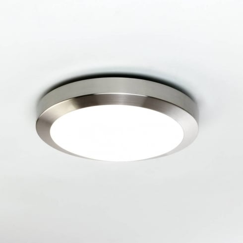 Astro Lighting Dakota 300 0674 Flush Ceiling or Wall Light Brushed Nickel with Opal Glass