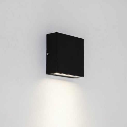 Astro Lighting Elis Single 7201 Single Square Black Outdoor Exterior LED Surface Wall Light