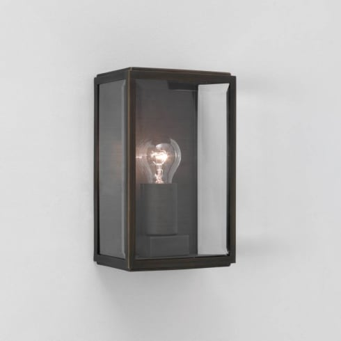 Astro Lighting Homefield Bronze 0562 Bronze Clear Glass Outdoor Surface Wall Light IP44