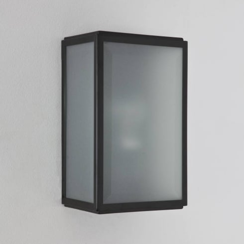 Astro Lighting Homefield Frosted 7081 Black Opal Glass Outdoor Surface Wall Light IP44