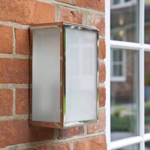 Astro Lighting Homefield Frosted 7083 Nickel Opal Glass Outdoor Surface Wall Light IP44