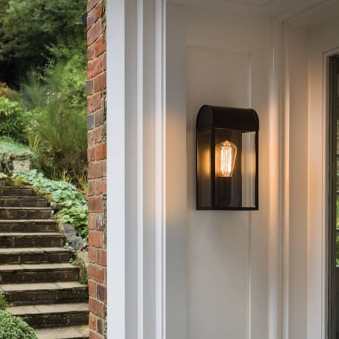 Astro Newbury Outdoor Wall Light Black and Glass