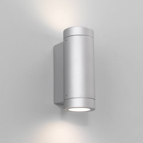 Astro Lighting Porto Plus 0625 Exterior Surface Up and Down Wall Light in Painted Silver