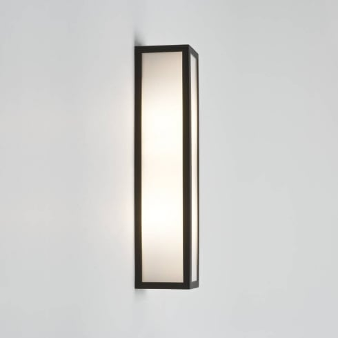 Astro Lighting Salerno 0848 Rectangular Black and Opal Outdoor Wall light