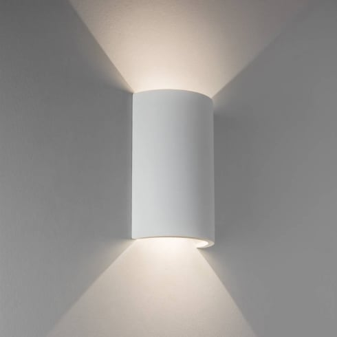 Astro Lighting Serifos 170 7613 White Plaster Finish Surface Wall Light