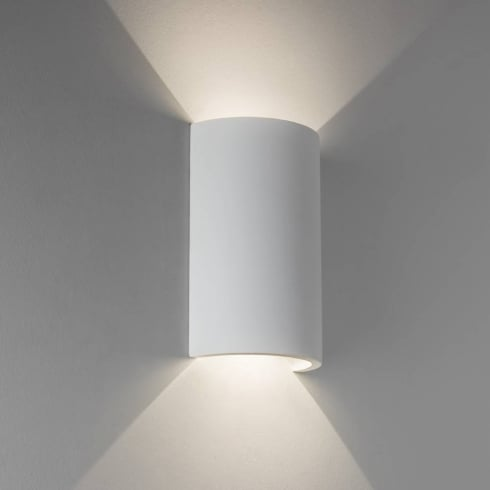 Astro Lighting Serifos 170 7375 LED White Up and Down Surface Wall Light in White Paintable