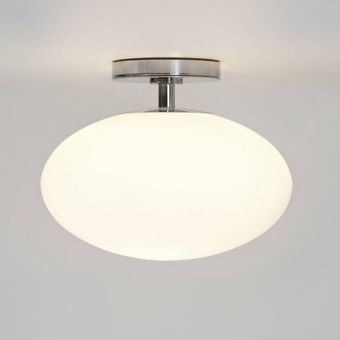 Astro Lighting Zeppo 0830 Flush Ceiling Light Opal Glass Polished Chrome IP20