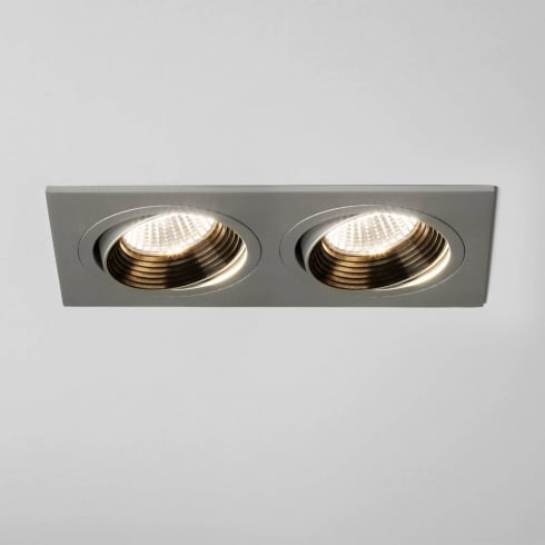 Astro Aprilla Twin LED Adjustable Recessed Downlight Aluminium
