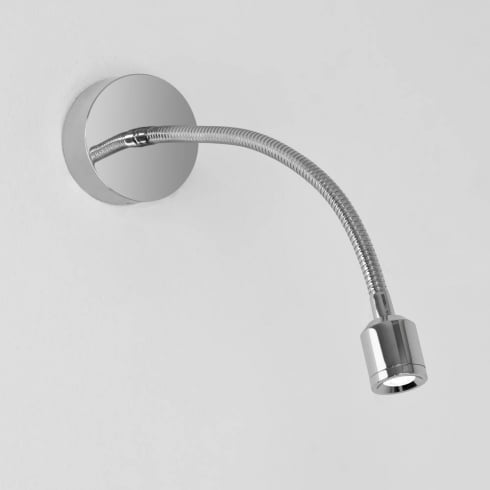 Astro Fossa Surface LED Wall Light in Polished Chrome