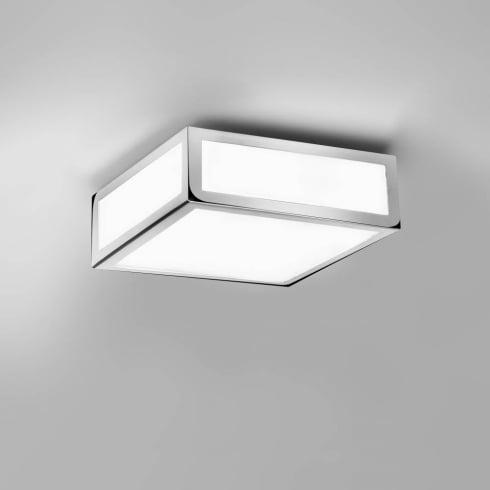 Astro Mashiko 200 Square Surface Flush Ceiling Light Polished Chrome
