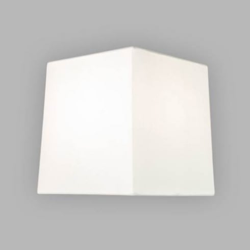 Astro Square Tapered 125 White Fabric Shade