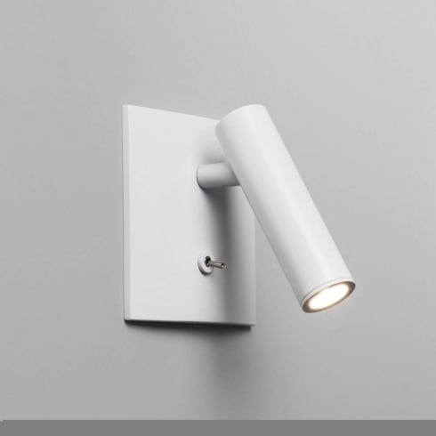 Astro Enna Square Recessed Wall Light White Switched