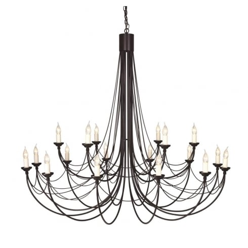 Elstead Lighting Carisbrooke 18Lt Chandelier Black CB18 BLACK