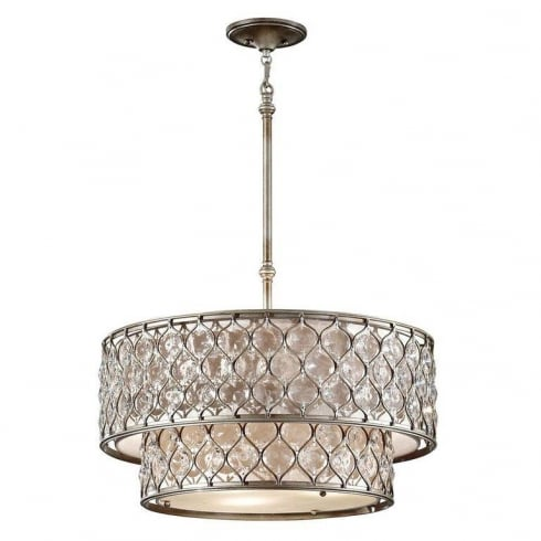 Elstead Lighting Lucia 6Lt FE/LUCIA/P/E 2TR Chandelier