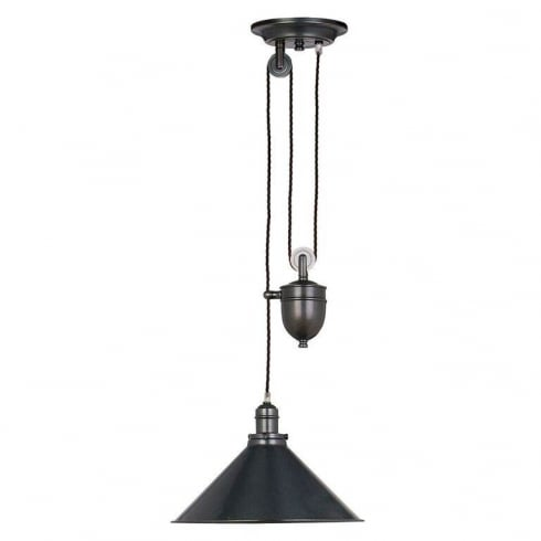 Elstead Lighting Provence 1 lt Rise and Fall Pendant Old Bronze PV/P OB