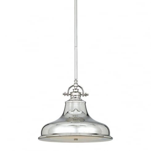 Elstead Lighting Emery 1 Lt Medium Pendant Imperial Silver QZ/EMERY/P/M IS