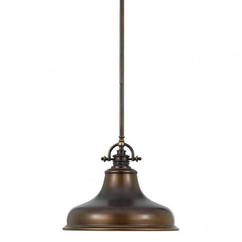 Elstead Emery 1 Lt Medium Pendant Palladian Bronze QZ/EMERY/P/M PN