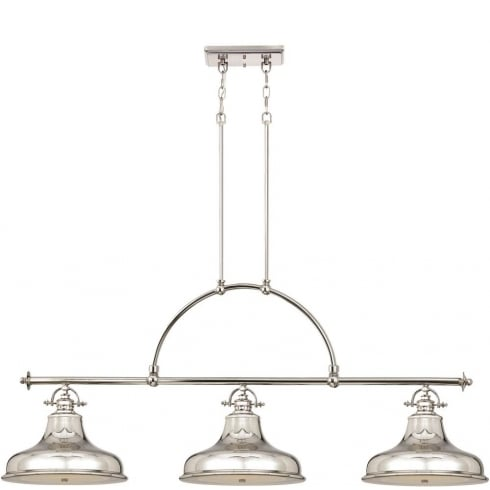 Elstead Lighting Emery 3 Lt Island Light Imperial Silver QZ/EMERY3P IS