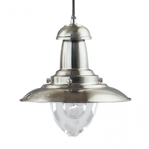 Searchlight Fisherman 4301SS Satin Silver Pendant Ceiling Light