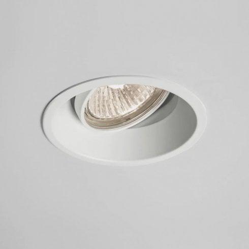 Astro Minima Round Adjustable Recessed Ceiling Downlight White