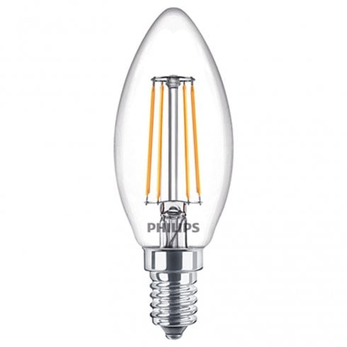 Philips Classic LED Candle Bulb 4.3W SES Warm White