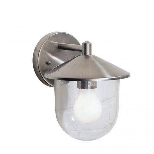 Dar Poole Surface Wall Light Polished Stainless Steel Glass