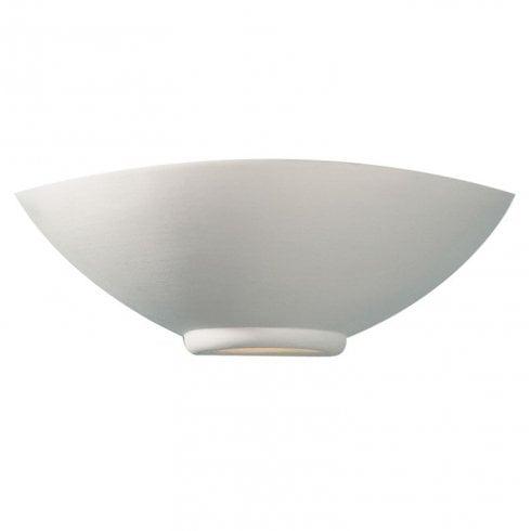 Dar Otis Surface Wall Light White Unglazed Ceramic