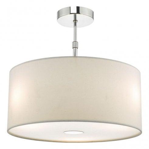 Dar Ronda 40cm Easy Fit Pendant Ceiling Light Porcelain White