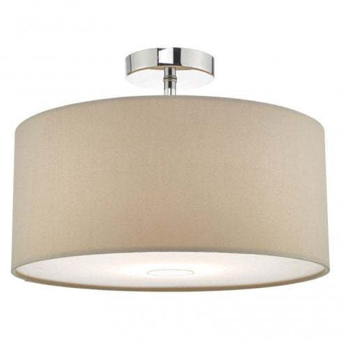 Dar Ronda 40cm Easy fit Pendant Ceiling Light Taupe Shade Only
