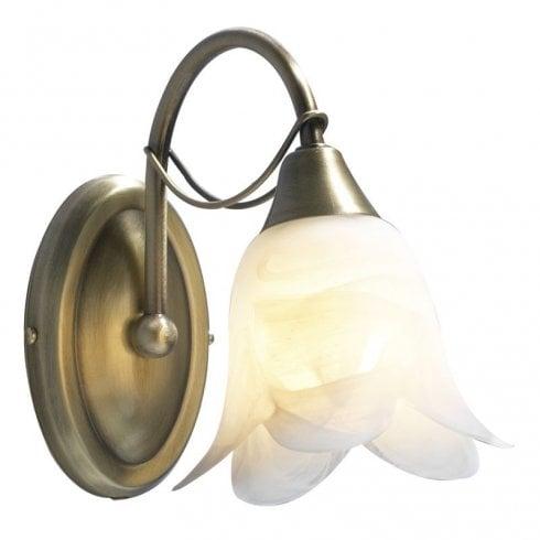 Dar Doublet 1 Light Surface Wall Light Antique Brass