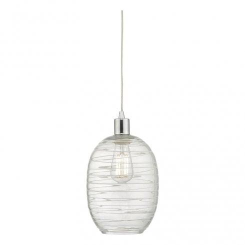 Dar Tizi Easy Fit Pendant Ceiling Light Glass