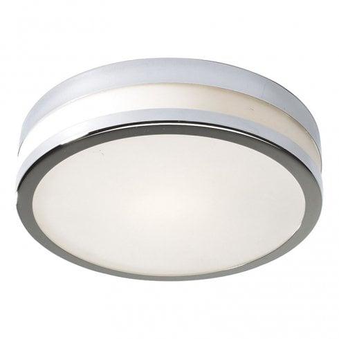 Dar Cyro Small Flush Ceiling Light Polished Chrome