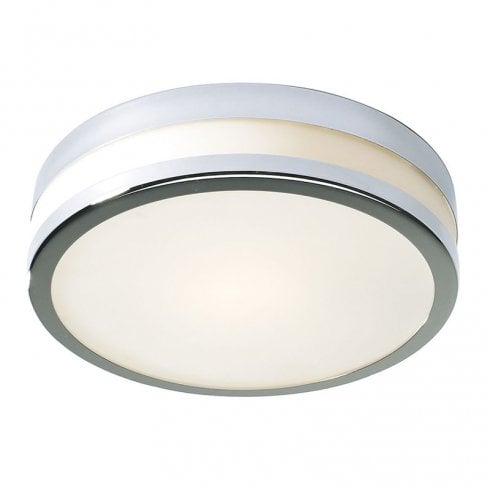 Dar Cyro Large Flush Ceiling Light Polished Chrome