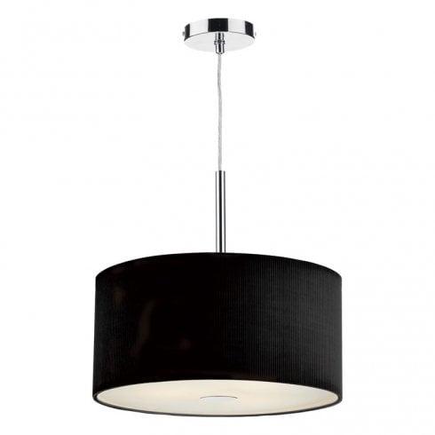 Dar Zaragoza 400mm 3 Light Pendant Ceiling Light Black