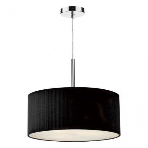Dar Zaragoza 3 Light Pendant Ceiling Light Black 600mm