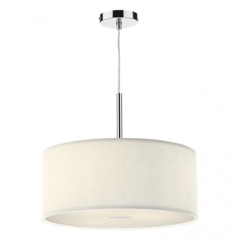 Dar Zaragoza 3 Light Pendant Ceiling light Cream 600mm