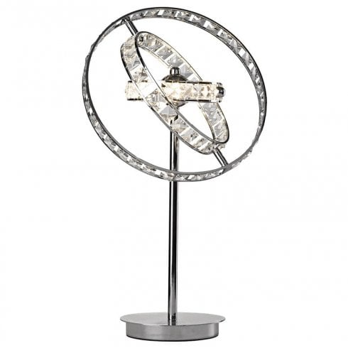 Dar Eternity 4 Light Table Lamp Crystal & Polished Chrome
