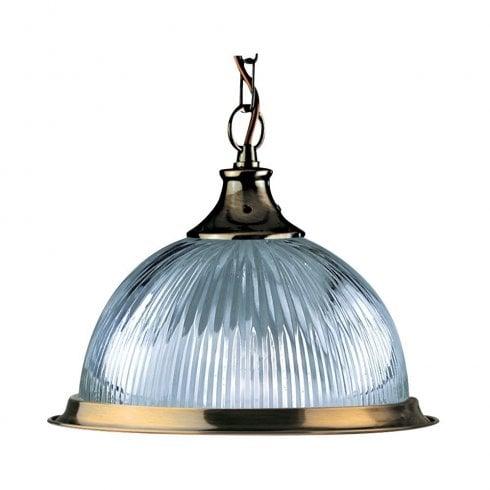 Searchlight American Diner 9369 Pendant Light Antique Brass