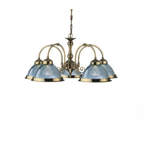 Searchlight American Diner 9345-5 Pendant Antique Brass
