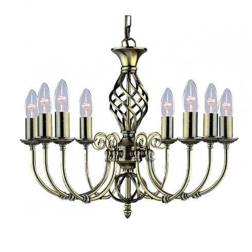 Searchlight Zanzibar 8398-8 Pendant Light Antique Brass
