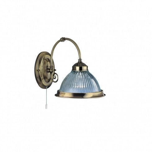 Searchlight American Diner 9341-1 Wall Light Antique Brass