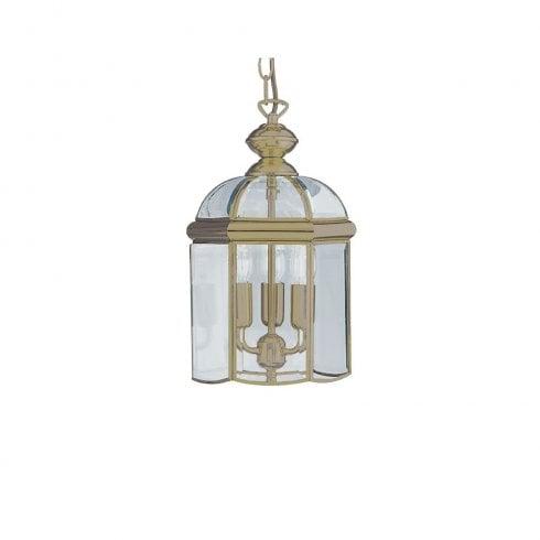 Searchlight 7133AB Pendant Ceiling Light Antique Brass